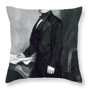 Franklin Pierce Throw Pillow by George Healy