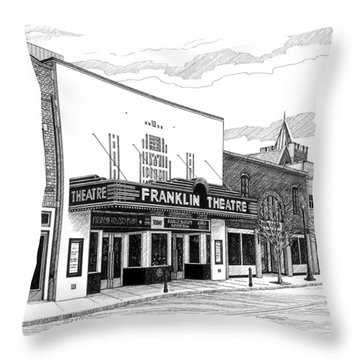 Franklin Theatre In Franklin Tn Throw Pillow