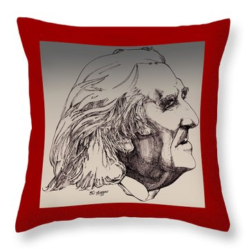 Franz Liszt Throw Pillow by Derrick Higgins