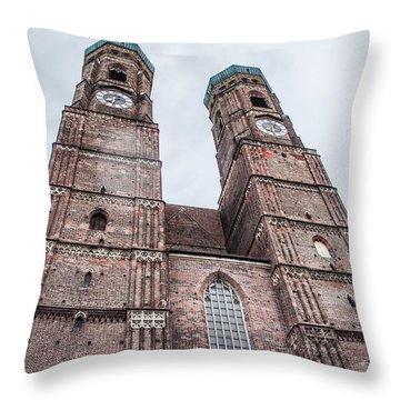 Frauenkirche Throw Pillow by Hannes Cmarits