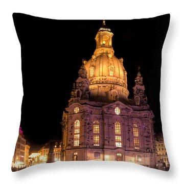 Frauenkirche Throw Pillow by Steffen Gierok