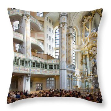 Frauenkirche Throw Pillow by William Beuther