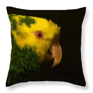 Throw Pillow featuring the photograph Fred The Amazon Parrot by Melissa Messick