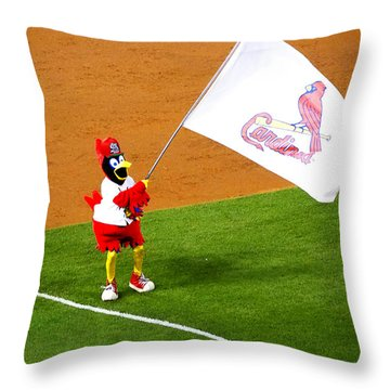 Fredbird Celebrates A Win Throw Pillow