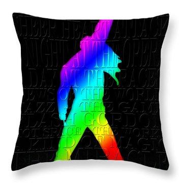 Freddie Mercury 2 Throw Pillow