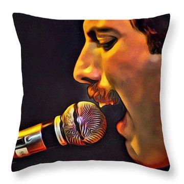 Freddie Mercury 2 Of 4 Throw Pillow