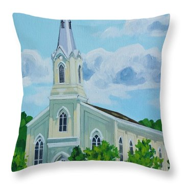 Fredericksburg Baptist Church Throw Pillows