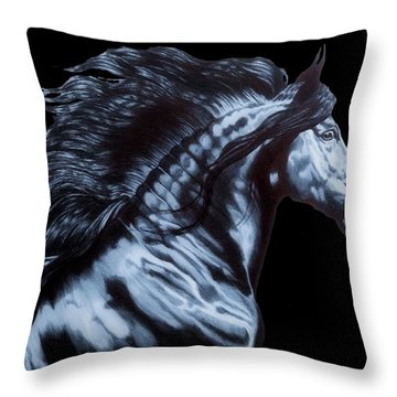 Frederik The Great Throw Pillow by Cheryl Poland