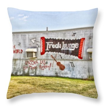 Fred's Lounge Throw Pillow