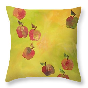 Free Apples Throw Pillow by PainterArtist FIN