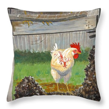 Throw Pillow featuring the painting Free At Last by Dan Redmon