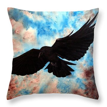 Throw Pillow featuring the painting Free Bird by Oddball Art Co by Lizzy Love