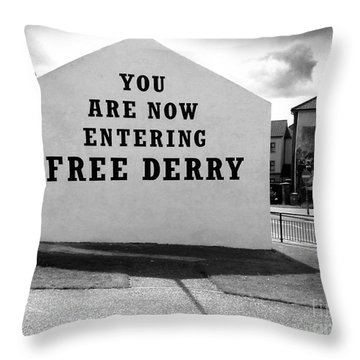 Free Derry Corner Throw Pillow by Nina Ficur Feenan