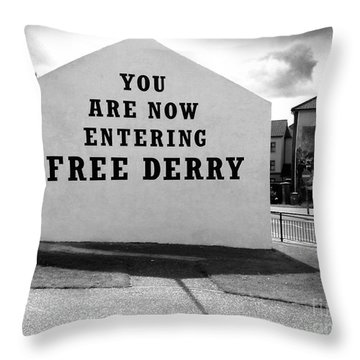 Free Derry Corner 9 Throw Pillow