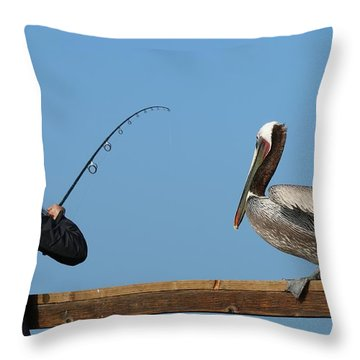 Free Dinner  Throw Pillow by Christy Pooschke