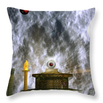 Free Energy Throw Pillow by Peter R Nicholls