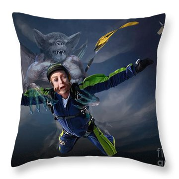Free Fall Into Darkness Throw Pillow by Joseph Juvenal