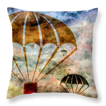 Free Falling Throw Pillow by Angelina Vick
