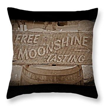 Free Moonshine Throw Pillow