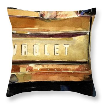 Free Ride Throw Pillow by Molly Poole
