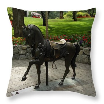 Throw Pillow featuring the photograph Free Ride by Natalie Ortiz