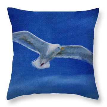 Throw Pillow featuring the painting Free Spirit 2 by Lynn Hughes