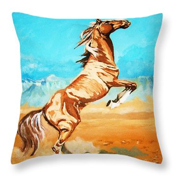 Throw Pillow featuring the painting Free Spirit by Al Brown