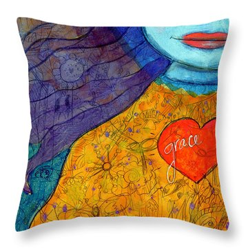 Free Your Mind And Grace Will Follow Throw Pillow