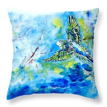 Free Throw Pillow by Zaira Dzhaubaeva