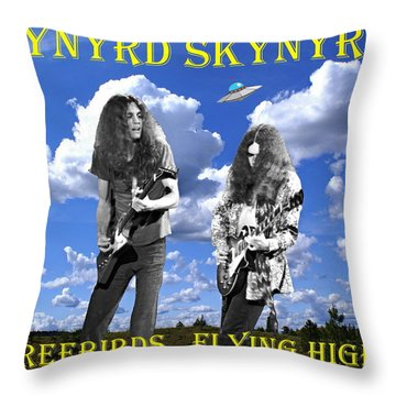 Freebirds Flying High Throw Pillow