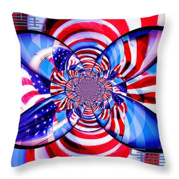 Freedom Abstract  Throw Pillow