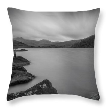 Freedom At The Lake Throw Pillow by Ian Mitchell