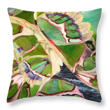 Freedom Butterfly Throw Pillow