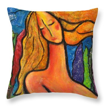 Freedom Throw Pillow by Chaline Ouellet