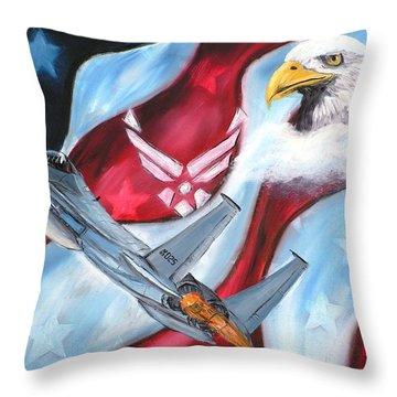 Freedom Eagles Throw Pillow by Dan Harshman