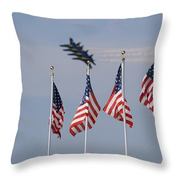 Freedom Flying Throw Pillow