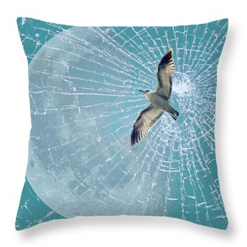 Freedom Throw Pillow by Heike Hultsch