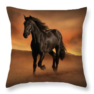 Freedom In The Desert Throw Pillow