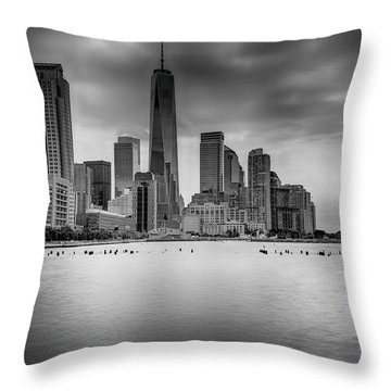 Freedom In The Skyline Throw Pillow