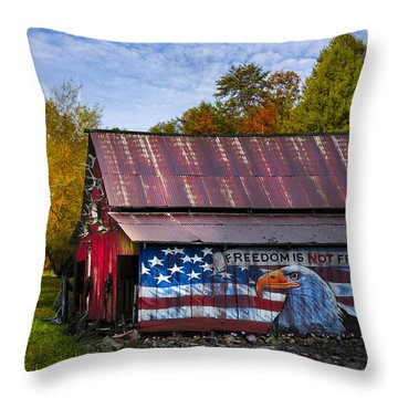 Freedom Is Not Free Throw Pillow by Debra and Dave Vanderlaan