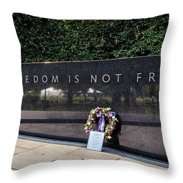 Freedom Is Not Free Throw Pillow by Sennie Pierson