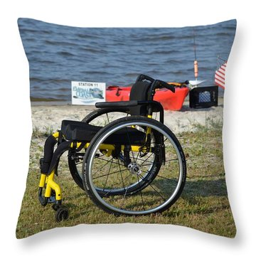 Freedom Isn't Free Throw Pillow by Jeff at JSJ Photography