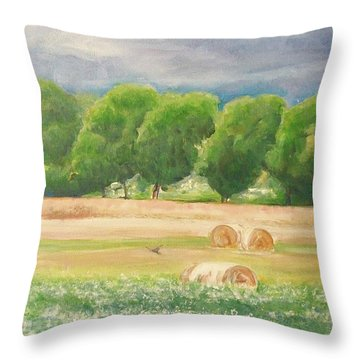 Throw Pillow featuring the painting Freedom by Jane  See