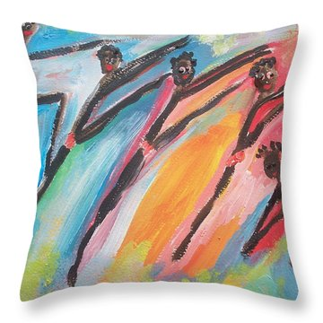 Freedom Joyful Ballet Throw Pillow