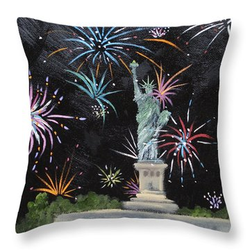 Throw Pillow featuring the painting Freedom by Judith Rhue