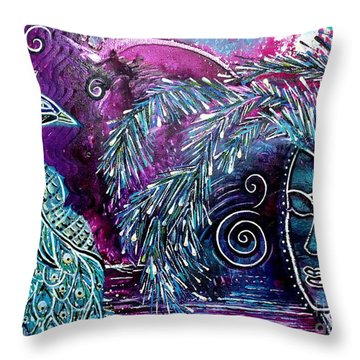 Freedom Throw Pillow by Julie  Hoyle