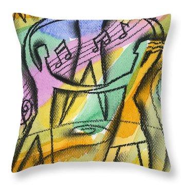 Freedom Throw Pillow by Leon Zernitsky