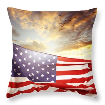 Freedom Throw Pillow by Les Cunliffe
