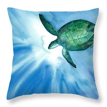 Sea Tutrle 2 Throw Pillow