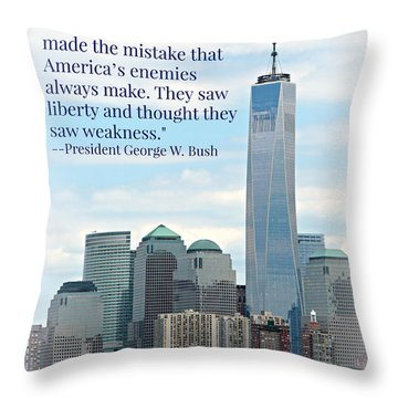 George Bush Throw Pillows